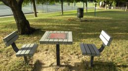 Play Checkers at the Katherine Fleischer Park Wells Branch Austin Texas