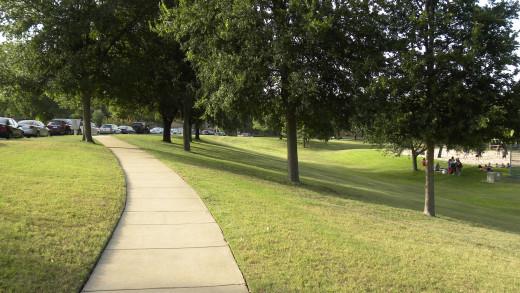 Walking trails at Katherine Fleischer Park Wells Branch Austin Texas
