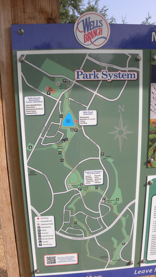 Trail Map of Katherine Fleischer Park Wells Branch Austin Texas