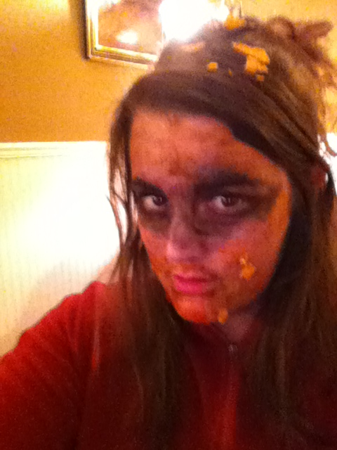 A commercial for a certain food company.  Yes, I'm a zombie. Did you say there's something on my face?
