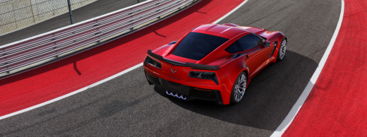 2015 Chevy Corvette-Z06 Red Rear