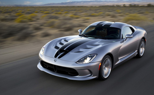 2015 Dodge Viper Silver with black Stripes