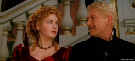 Kenneth Branagh as Hamlet and Kate Winslet as Ophelia in the 1996 film rendition of Hamlet
