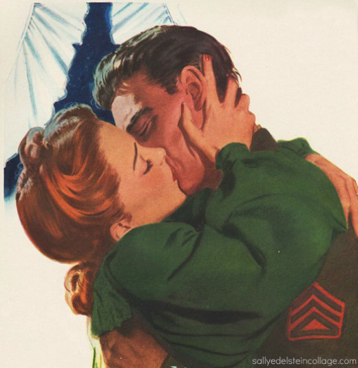 A soldiers kiss