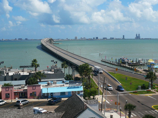 Entrance to South Padre Island at Brownsville.
