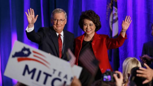 Senate Majority Leader Mitch McConnell and his wife