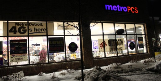 MetroPCS Store in Ypsilanti, Michigan. Dwight Burdette, 2011. CC-BY-3.0.