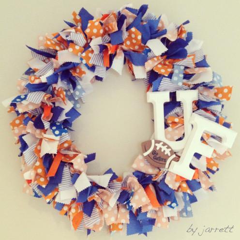 University of Florida Rag Wreath