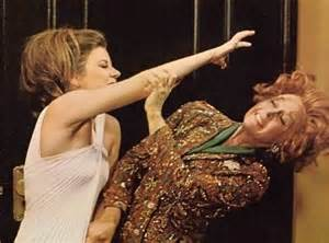 Neely O'Hara (Patty Duke) claws after Helen Lawson's (Susan Hayward) hair in Valley of the Dolls