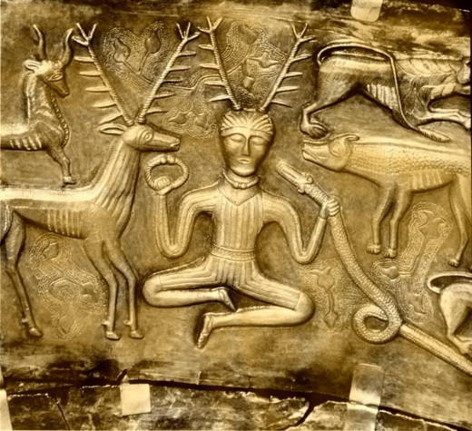 Cernunnos the horned god of pagan mythology is related heavily to nature, not aliens, but that won't stop ancient astronaut believers