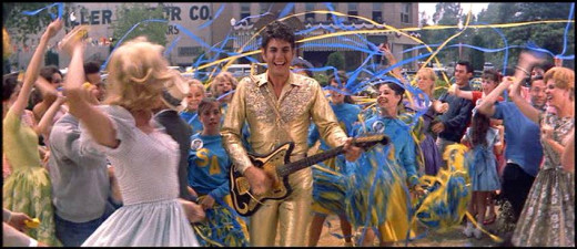 When Conrad Birdie (Jesse Pearson) comes to town everyone goes crazy in Bye Bye Birdie