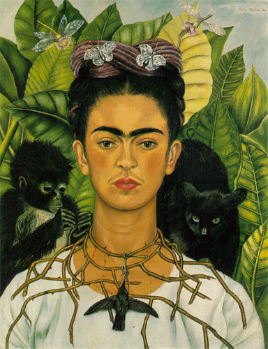 """Frida is NOT impressed to be a product on your """"riot grrrl"""" Etsy."""