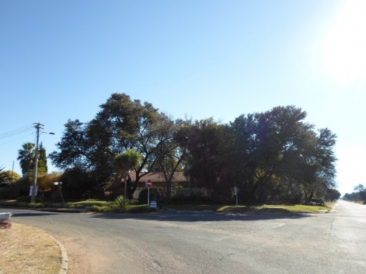 A street corner in one of the suburbs, Klerksdorp