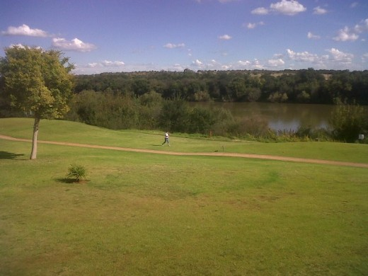 Orkney Golf course on the banks of the Vaal River
