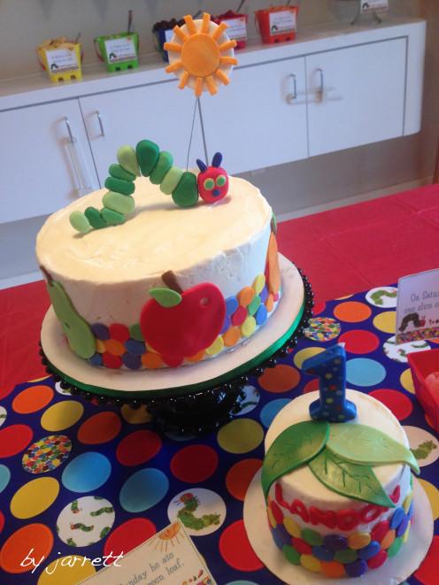 The Very Hungry Caterpillar Birthday Cake!