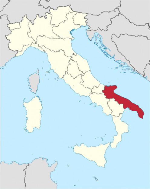 "Puglia is the ""heel"" of the Italian ""boot"""