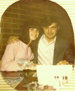 Helmut and me at my High School Graduation Dinner, the year before he died.
