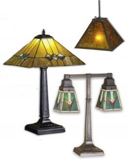 Martini Mission Table Lamp, Comanche Two-Light Desk Table Lamp, and Square Inverted Mission Pendant. See these and more Meyda Tiffany Craftsman Arts & Crafts Style Light Fixtures available at