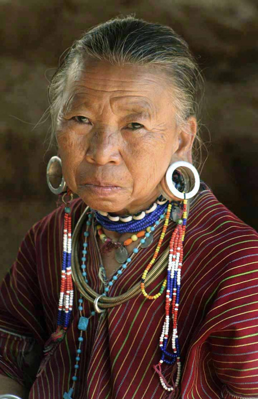Tribes woman with ear piercing