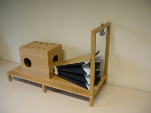 "Replica of ""acoustic-mechanical speech machine""."