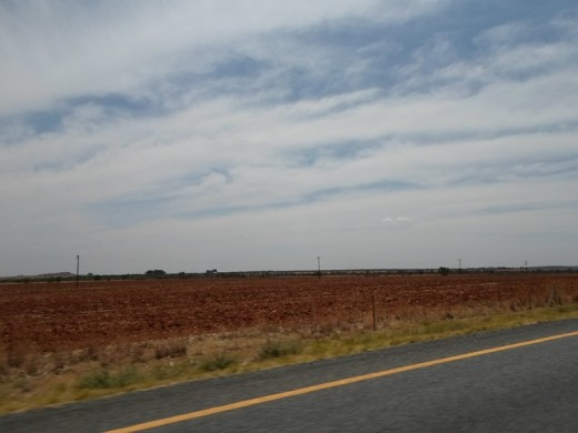Free State, South Africa, R30, between Bloemfontein and Bothaville
