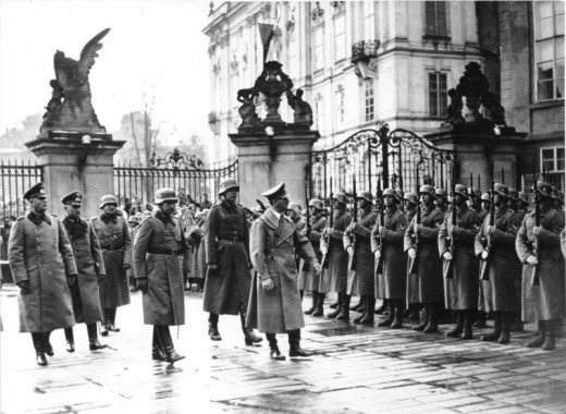 Hitler in Prague, 15 March 1939.