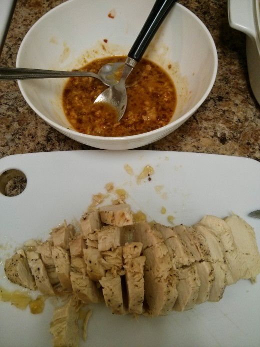 Yes, I used left over chicken breasts I had available in the fridge (quick tricks!) but this recipe is just as easy to make using fresh chicken breasts, per recipe instructions.