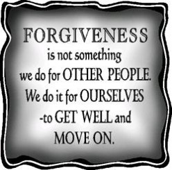 Forgiving and being Forgiven