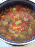 Easy veggie soup stock from scratch