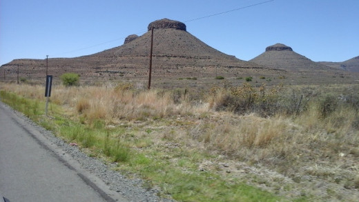 Three Sisters, South Africa - Great Karoo between Colesberg and Beaufort West
