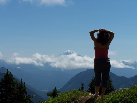 A Writing Challenge: The Woman on the Mountaintop