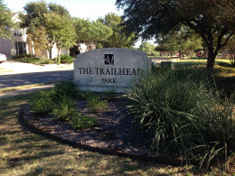 Entrance to Davis Spring Park (The Trailhead)  Austin Texas