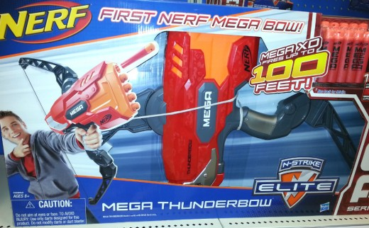 Nerf's Mega Thunderbow is one of several bow and arrow sets available at stores.