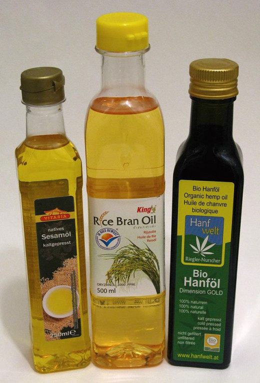 Sesame, rice bran and hemp oils are all examples of plant based oils that can be used in cooking.