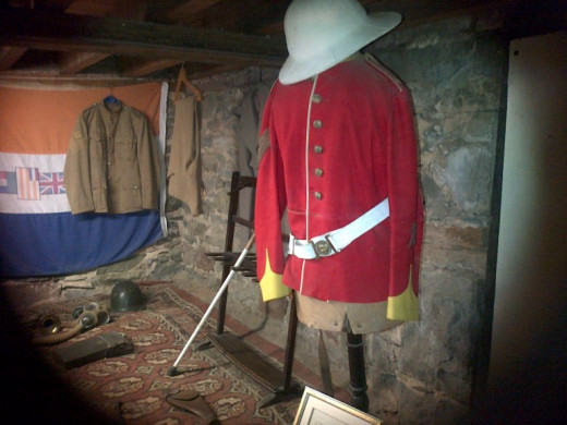 Matjiesfontein - Museum - The red uniforms of the British soldiers