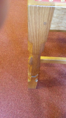 A Mouse Carving on a Chair Leg