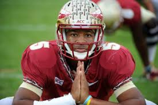 Jameis Winston - Praying that crime stays legal at Florida State
