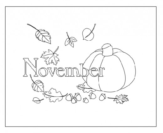 Best coloring books ever hubpages for Coloring pages for november