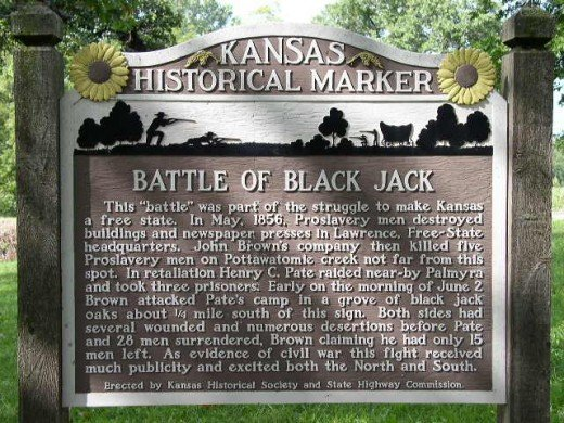 The Battle of Blackjack was part of the struggle for control of new states as free or slave states.