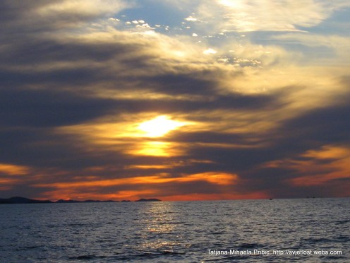 Sunset in Zadar, on Riva, photo by Tatjana-Mihaela Pribic