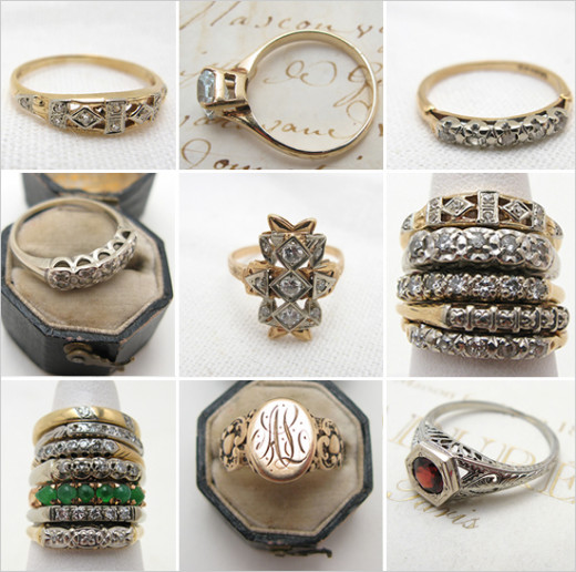 Vintage weddings rings are so beautiful and decadent
