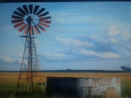 A windmill in the Orange Free State