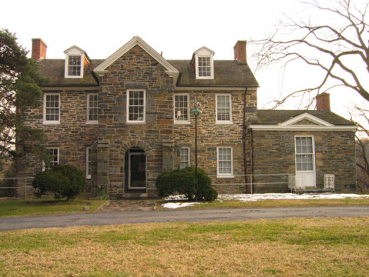 A View of the front of Pierce-Klingle Mansion, also known as Klingle House.