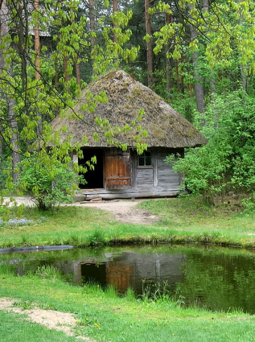 Bath House in Latvia where rituats honoring Laima took place - considered to be a variation of Māra