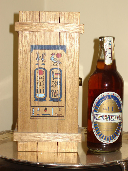 Tutankhamen Beer Complete with Hieroglyphs on Label