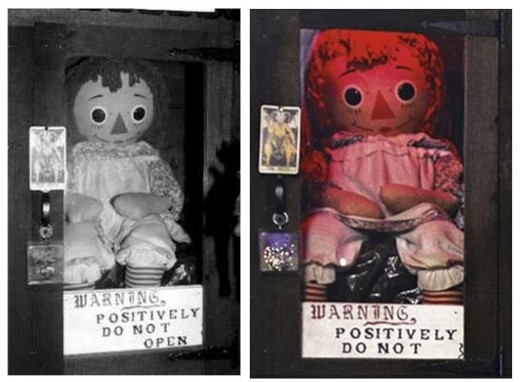 A Raggedy Ann doll was the subject of the Warrens investigations about Annabelle. The doll was changed for the film in order to show a more spooky looking doll.