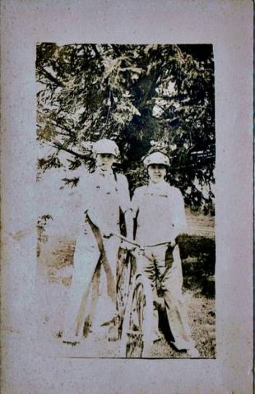 My uncle, on the left, came back from the war half a man.
