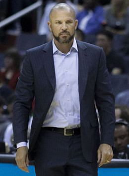 Coach Jason Kidd while with the Brooklyn Nets.
