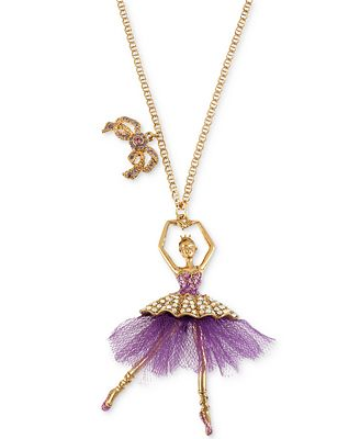 Betsey Johnson Ballerina Necklace