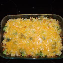 Once again the opportunity to take a photo of my own personal, finished product has eluded me. I think I live with a pack of animals. I will try to get a picture the next time I make this casserole.